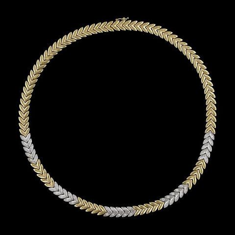 Chiampesan 18K Two-Tone Gold Estate Diamond Necklace