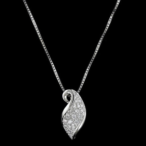 14K White Gold Estate Diamond Pendant