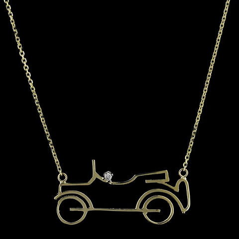 14K Yellow Gold Car Necklace