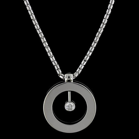 Products longs jewelers 89500 62500 roberto coin cento 18k white gold o pendant aloadofball Choice Image