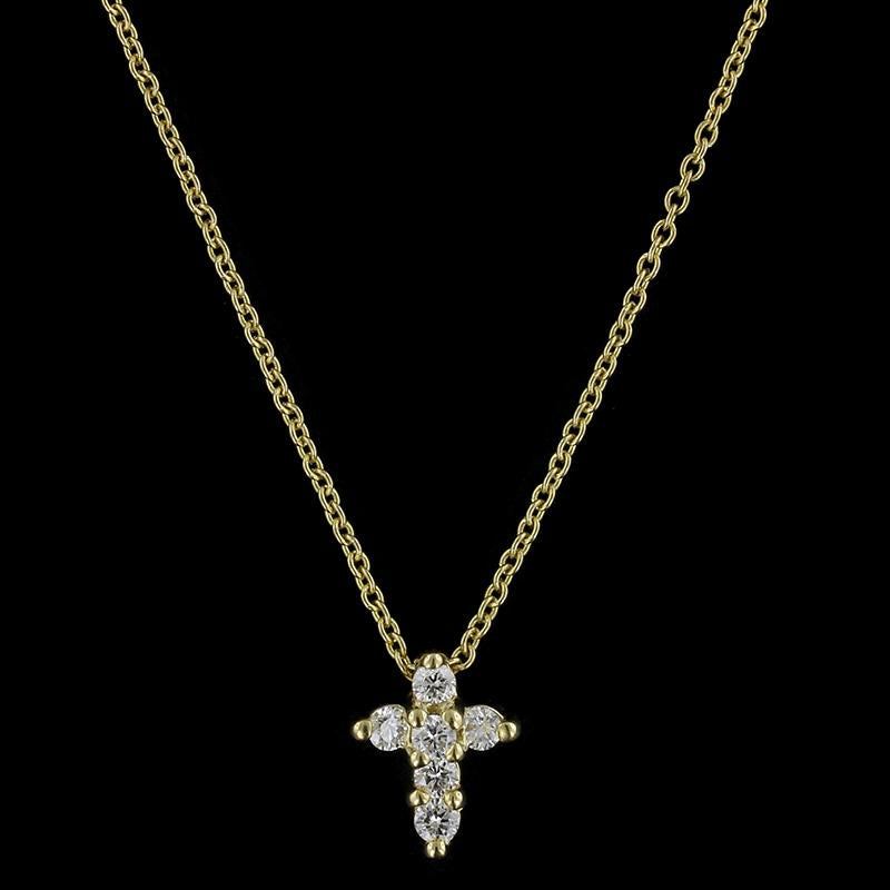 Roberto Coin 18K Yellow Gold Diamond Tiny Treasures Cross Pendant