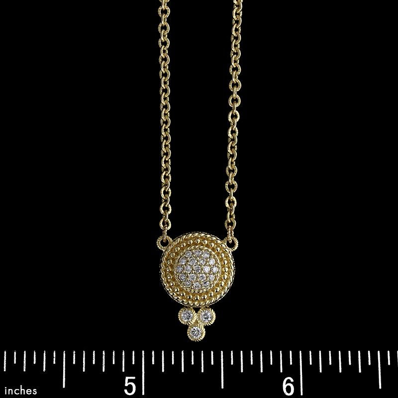 Judith Ripka 14K Yellow Gold Diamond Necklace