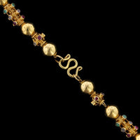 22K Yellow Gold Ruby, Emerald and Diamond Necklace