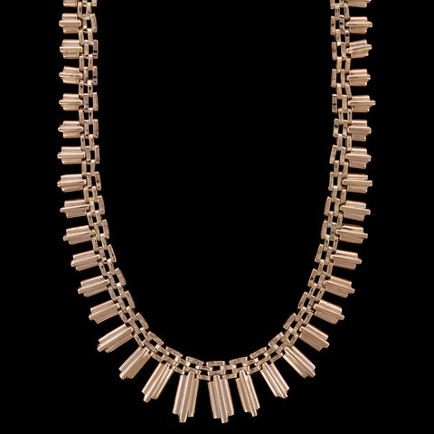 18K Rose Gold Fringe Necklace