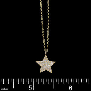 18K Yellow Gold Diamond Star Pendant