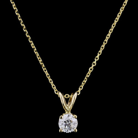 14K Two-Tone Gold Diamond Circle Necklace