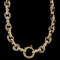 Caplain of Paris 18K Two-Tone Gold Necklace