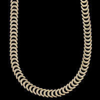 14K Yellow Gold C Link Necklace