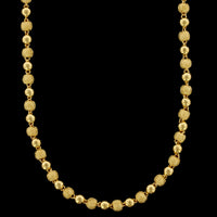 24K Yellow Gold Estate Bead Chain