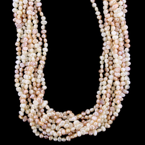 18K Yellow Gold Diamond and Freshwater Pearl Necklace