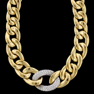 18K Yellow Gold Estate Diamond Necklace
