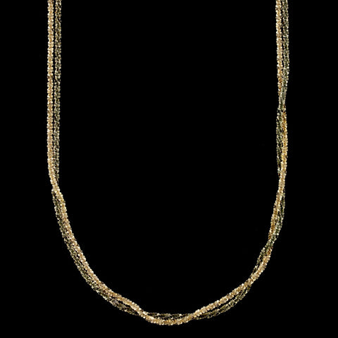 14K Yellow Gold and Black Rhodium Necklace