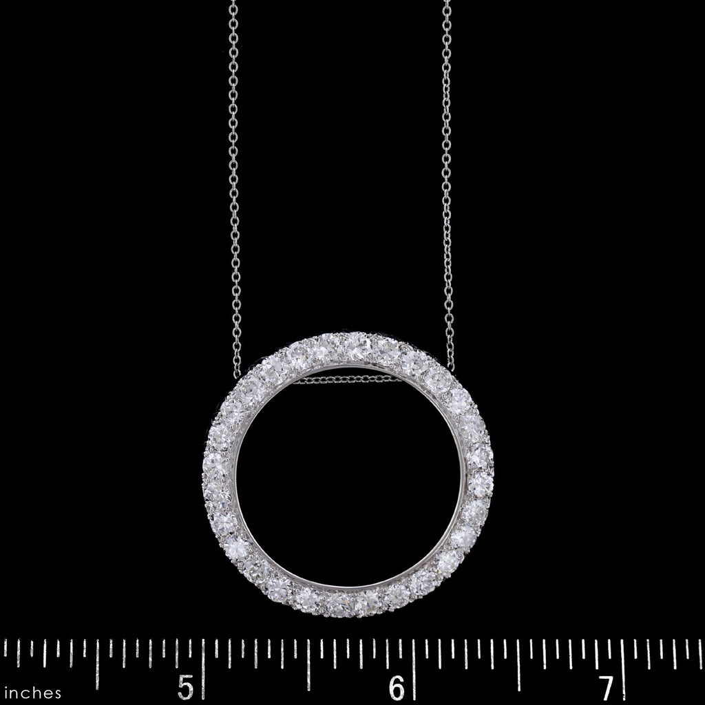 Platinum Estate Diamond Circle Pendant