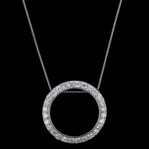 Platinum Diamond Circle Pendant