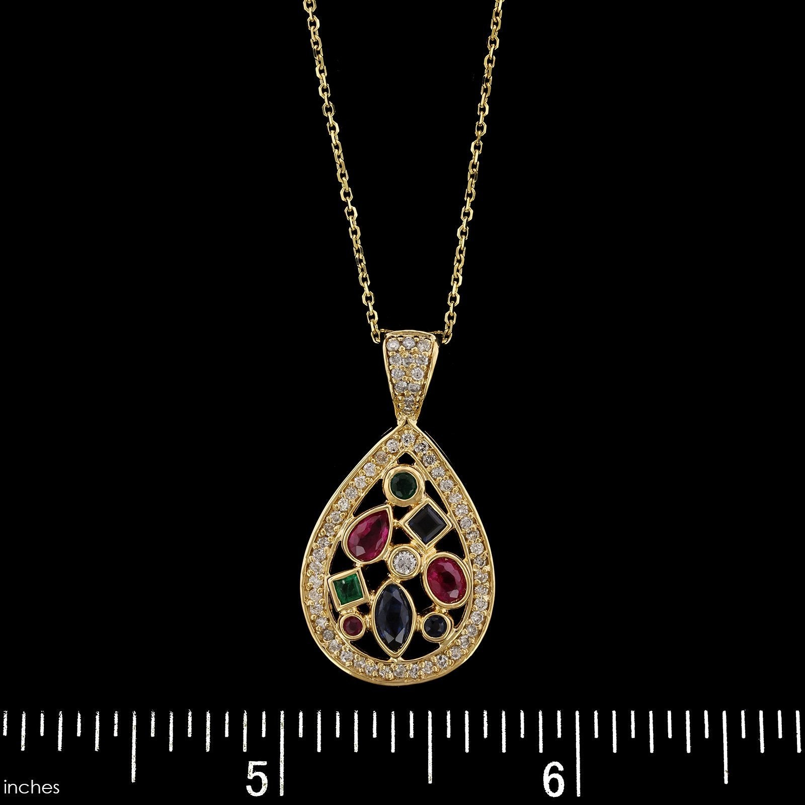 14K Yellow Gold Gem-set Pendant