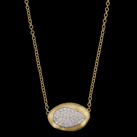 Marco Bicego 18K Yellow Gold Diamond Confetti Isola Necklace, Italy