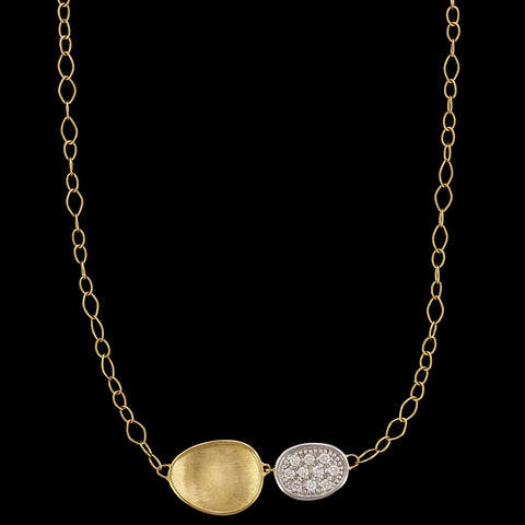 Marco Bicego 18K Yellow Gold Diamond Lunaria Necklace