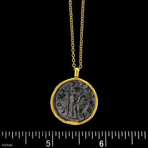Gurhan 22k and 24K Yellow Gold Estate Roman Coin One of a Kind Pendant