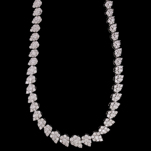 18K White Gold Andreoli Necklace with Graduated Diamonds