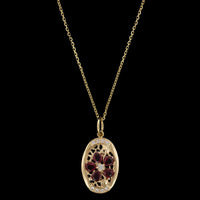 18K Yellow Gold Estate Ruby and Diamond Pendant