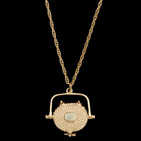 Glenaan 14K Yellow Gold Estate Nantucket Basket Pendant