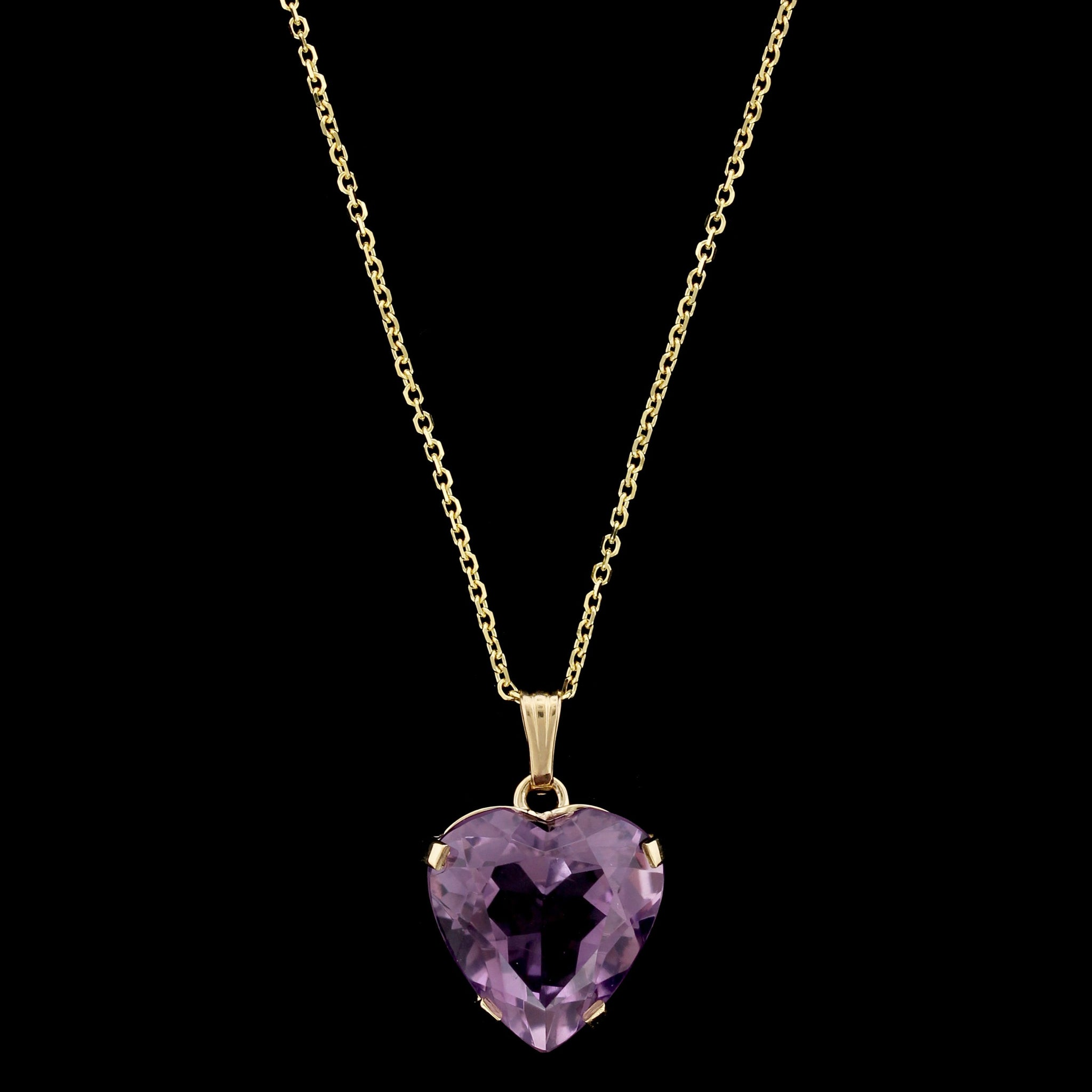 14K Yellow Gold Estate Amethyst Pendant