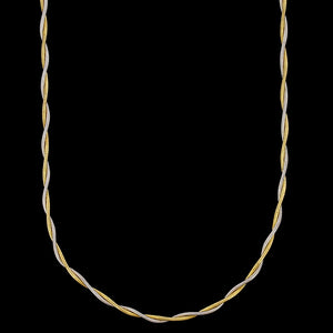 14K Two-tone Gold Estate Twisted Snake Chain