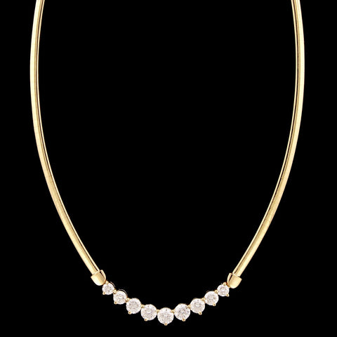 14K Yellow Gold Estate Diamond Necklace