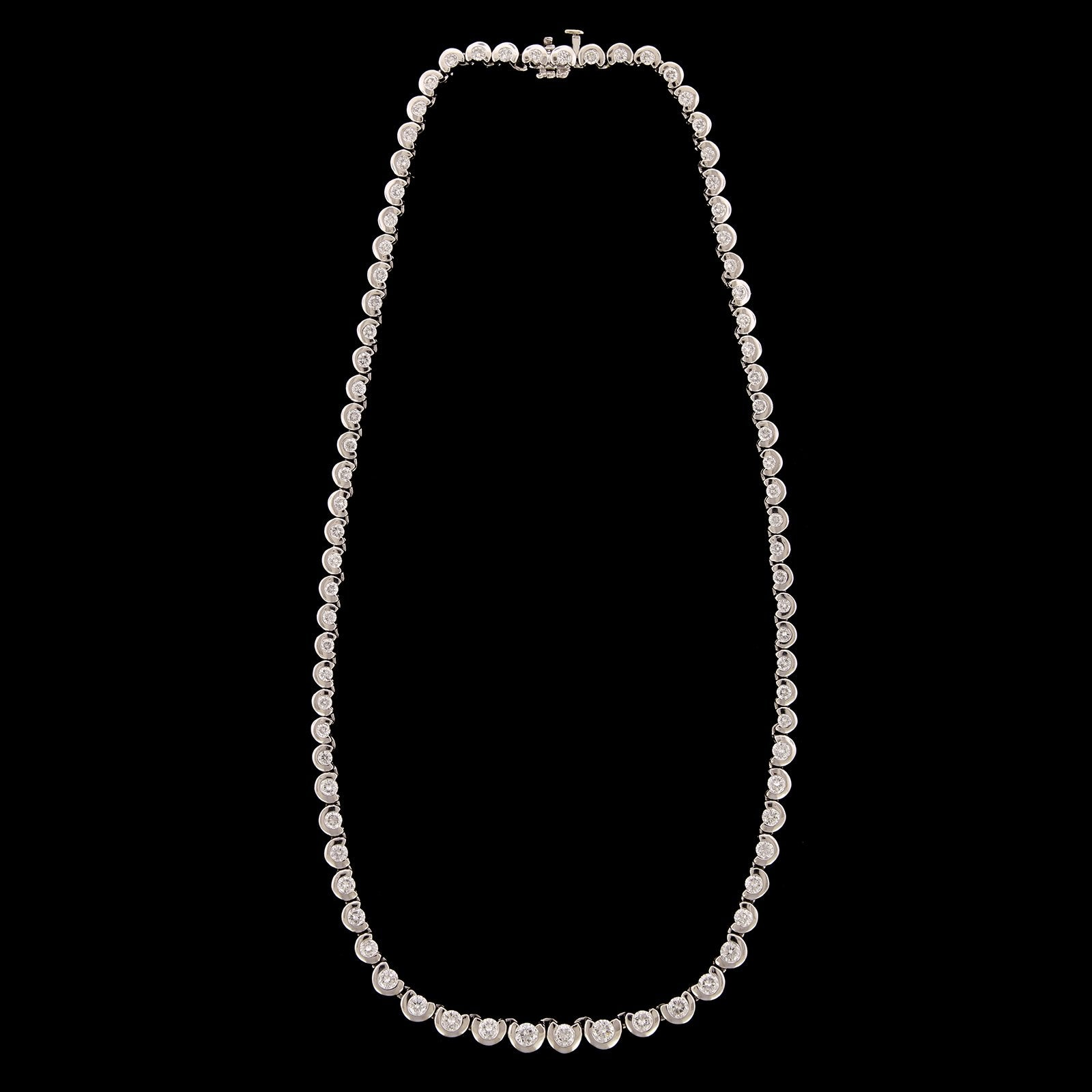 Platinum Estate Diamond Necklace