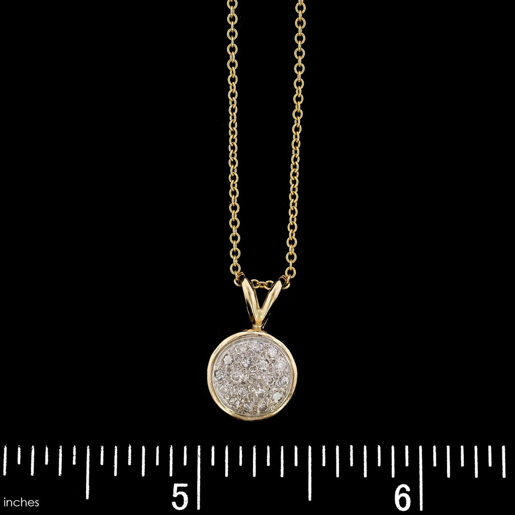 14K Yellow Gold Estate Diamond Pendant