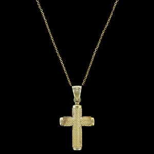14K Yellow Gold Estate Cross Pendant