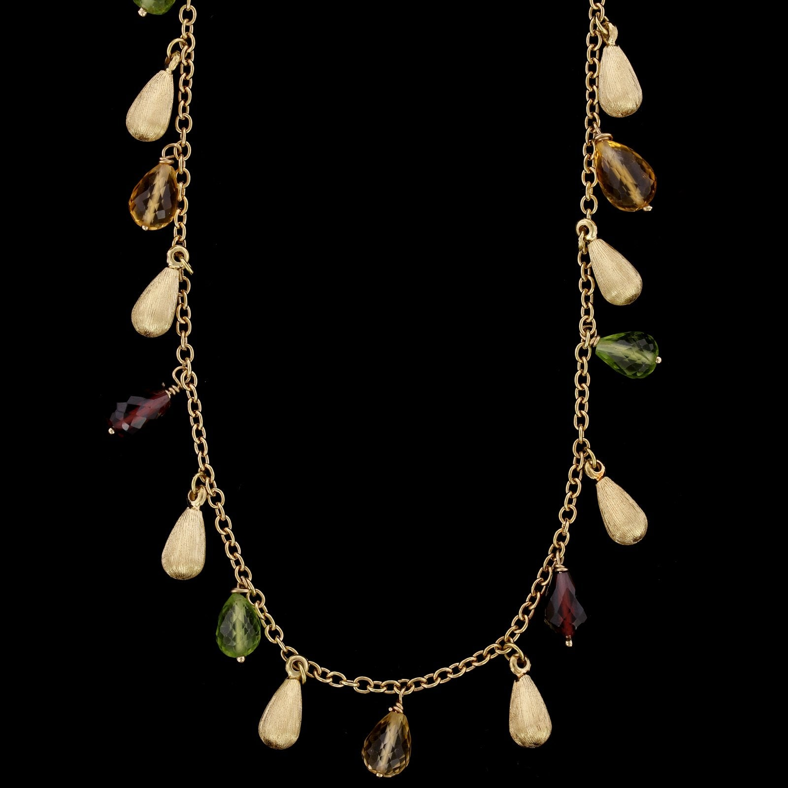 Roberto Coin 18K Yellow Gold Estate Gemstone Fringe Necklace