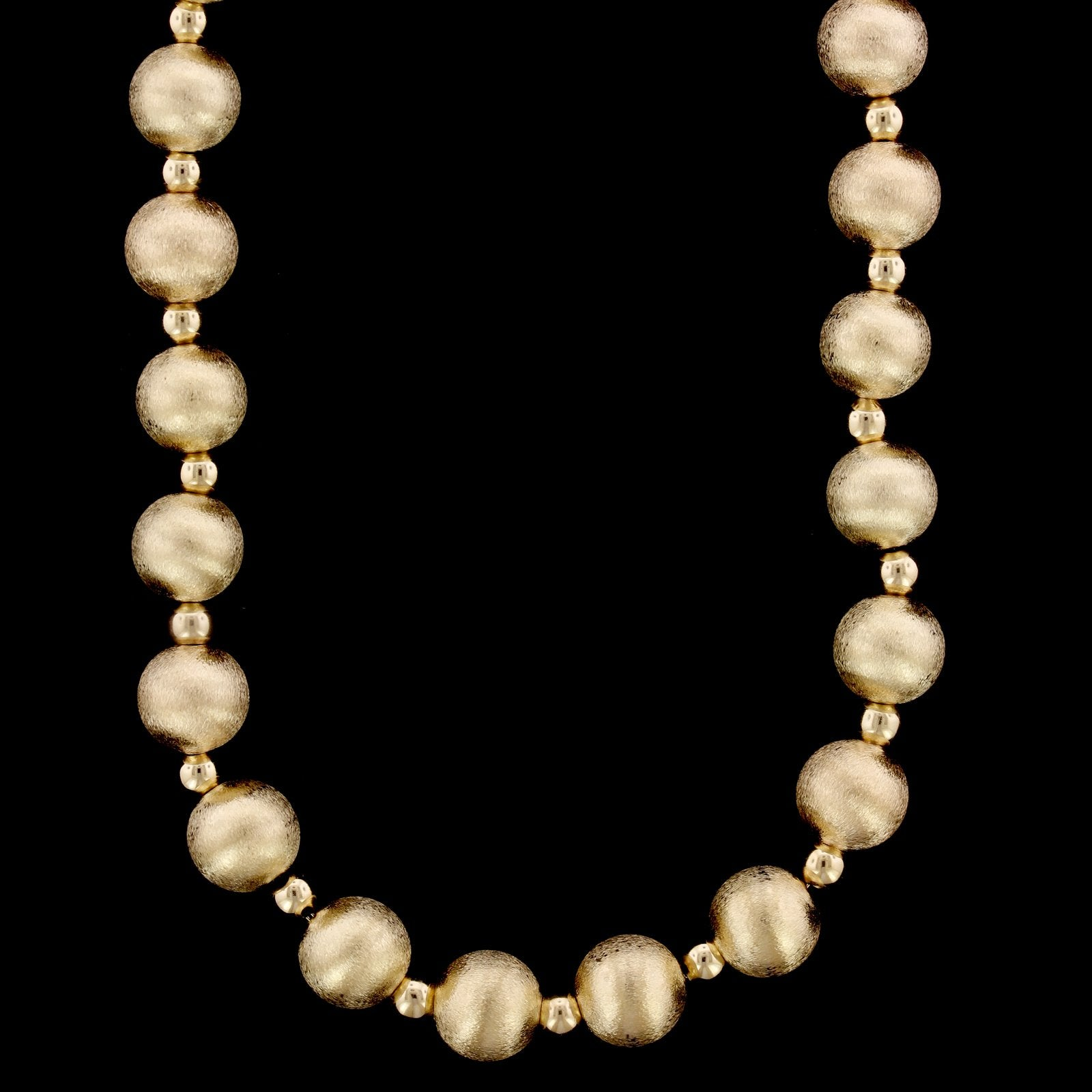 14K Yellow Gold Estate Bead Necklace