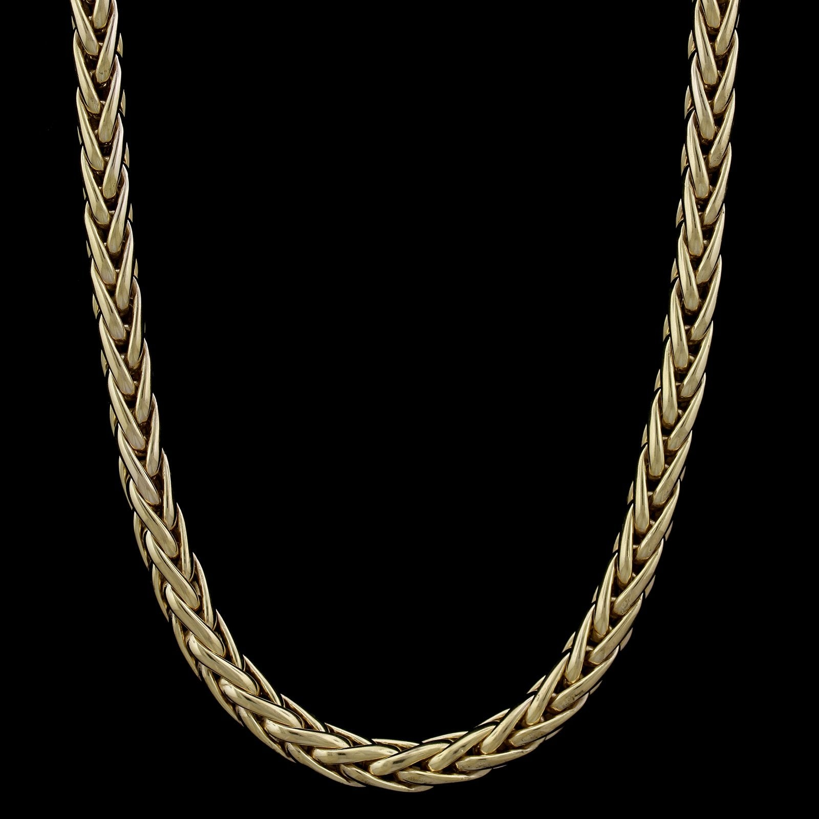 14K Two-tone Gold Estate Wheat Necklace