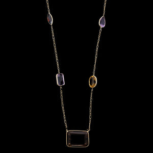 14K Yellow Gold Estate Gem-set Necklace