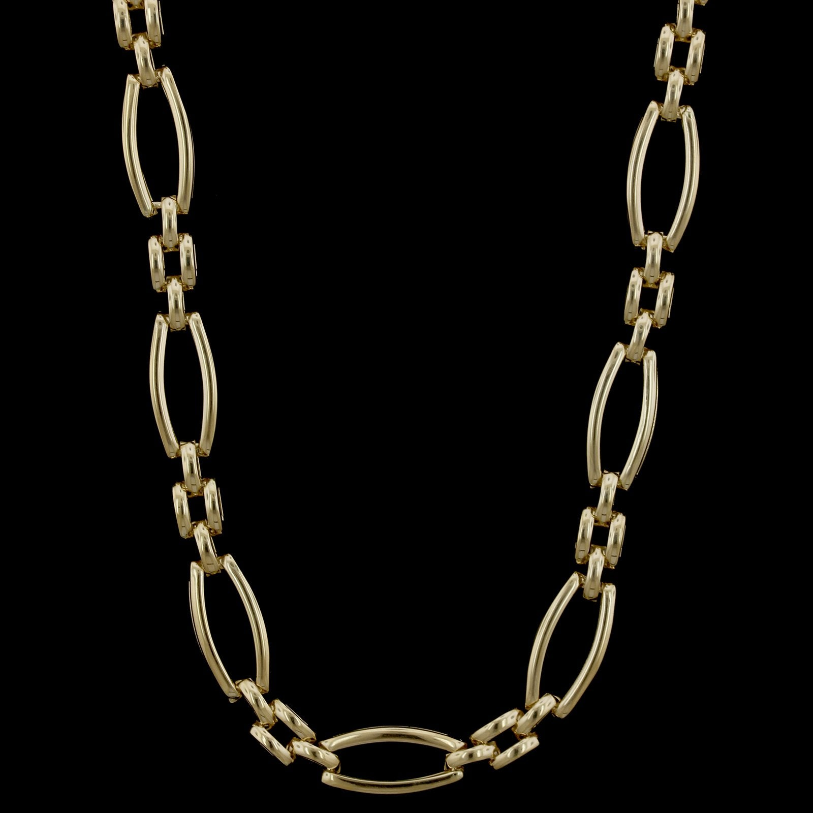 14K Yellow Gold  Estate Fancy Link Necklace