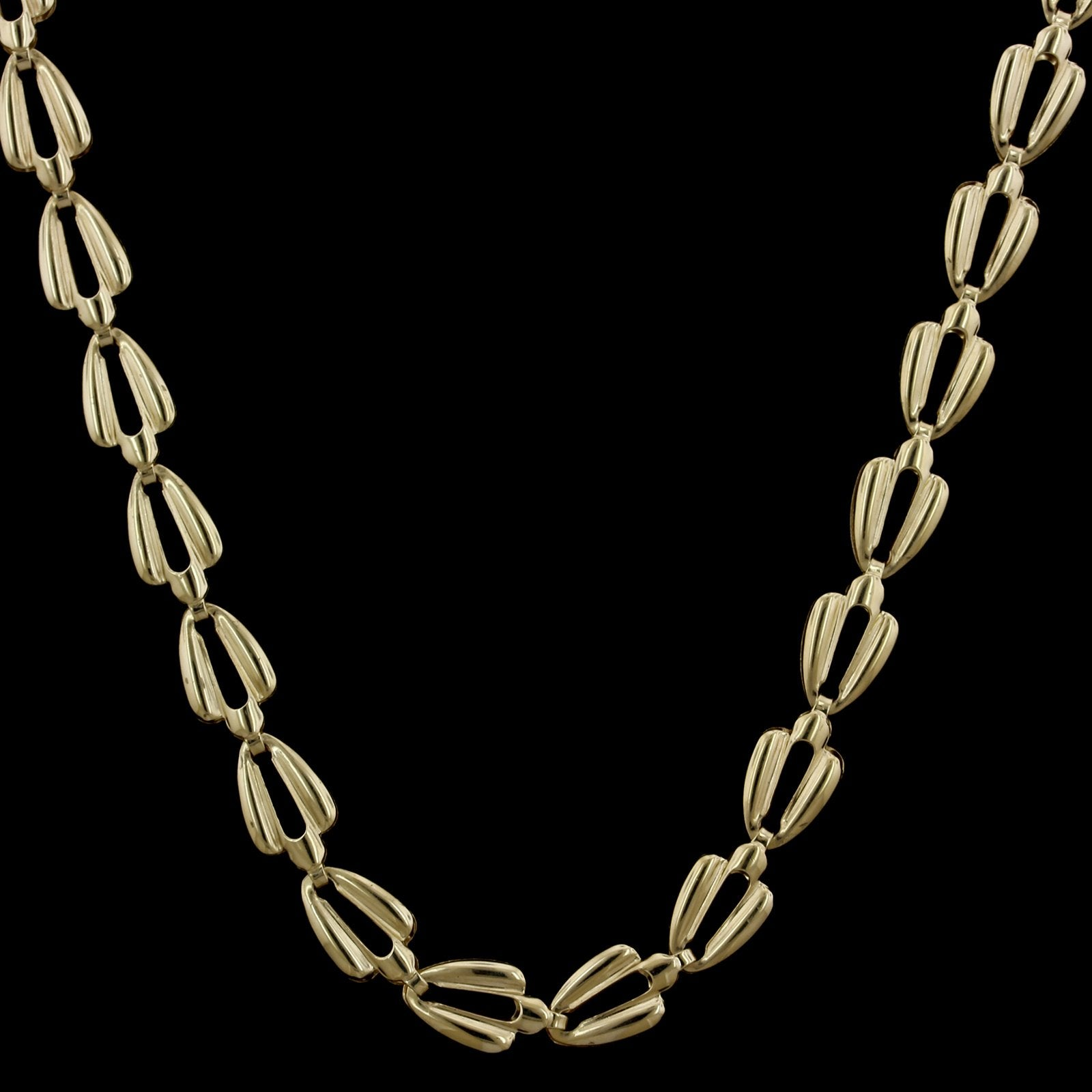 14K Yellow Gold Estate Fancy Link Chain