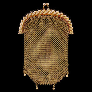 14K Yellow Gold Estate Mesh Coin Purse/Pendant