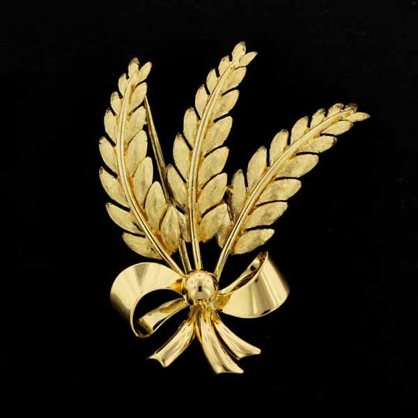 Tiffany & Co. 18K Yellow Gold Leaf Pin