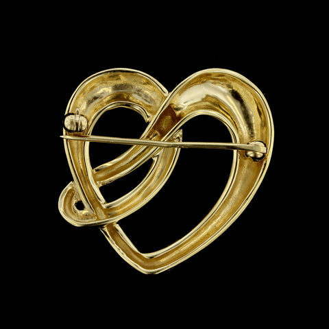 14K Yellow Gold Heart Pin