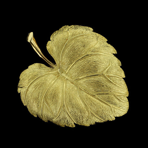 18K Yellow Gold Leaf Pin