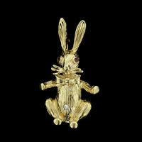 14K Yellow Gold Rabbit Pin