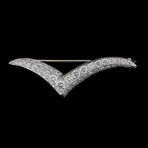 Tiffany & Co. Platinum and Diamond Seagull Pin