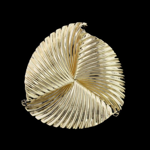 Mcteigue Retro 14K Yellow Gold Estate Pinwheel Brooch