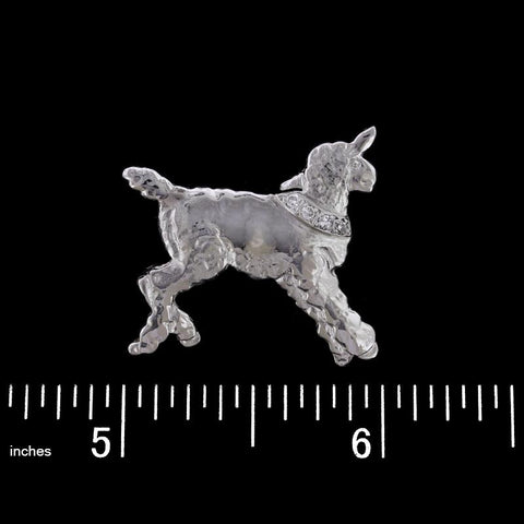 Vintage Platinum Diamond Lamb Pin