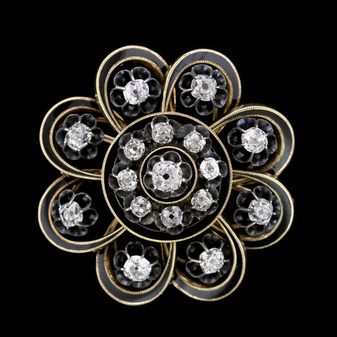 Victorian Gold Estate Diamond Pin