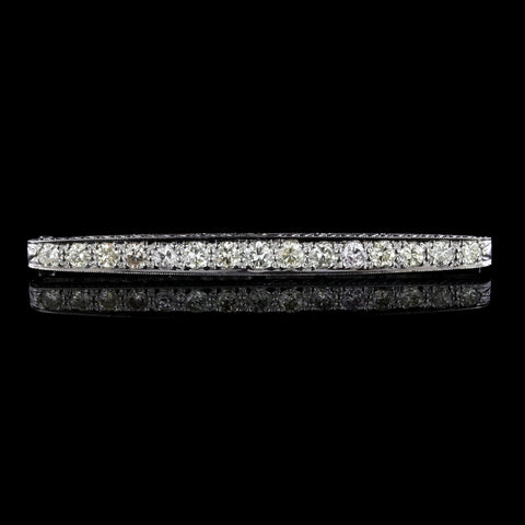 Vahak Vintage Platinum Diamond Bar Pin, Paris