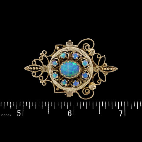 14K Yellow Gold Estate Opal Pin/Pendant
