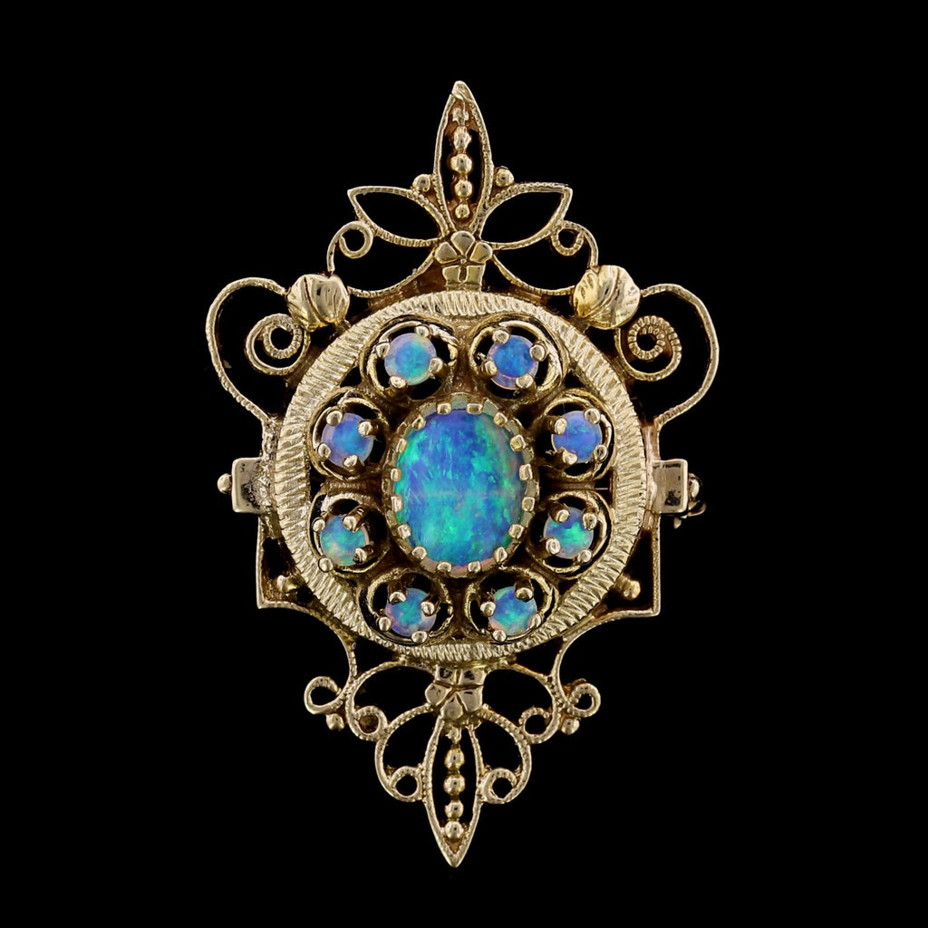 14K Yellow Gold Opal Pin/Pendant
