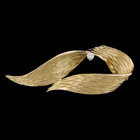 Danker 14K Yellow Gold Estate Diamond Pin